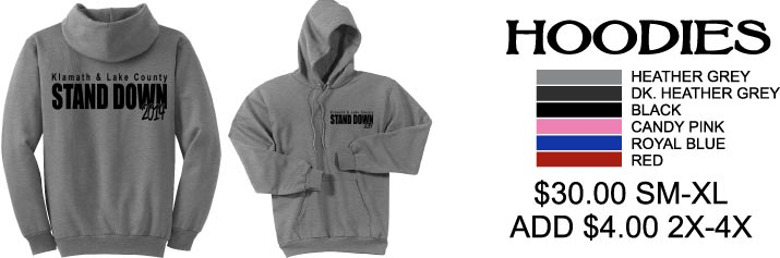 Veterans enrichment center and stand down hoodies